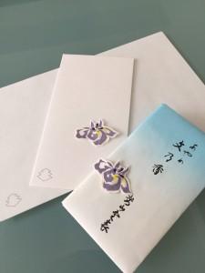 便箋、封筒と文香